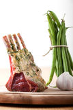 raw lamb chops Stock Photo