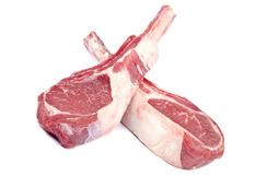 Raw Lamb Chops Royalty Free Stock Photos