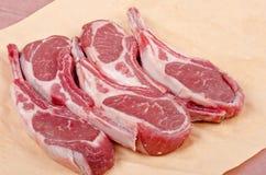Raw Lamb Chops Stock Images