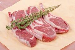 Raw Lamb Chops Royalty Free Stock Images