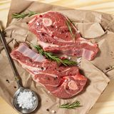 Raw Lamb Stock Photo