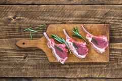 Raw lamb chops. Top view Stock Photography