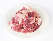 Raw lamb. Isolated on white background Royalty Free Stock Images