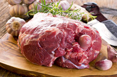 Raw Lamb Leg Stock Image