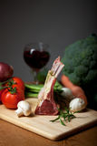 Raw lamb meat Stock Photo