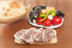 Raw lamb meat Stock Image