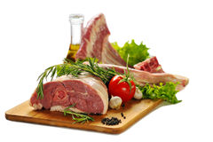 Raw lamb meat Royalty Free Stock Images