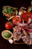 Raw Lamb Ribs Stock Image