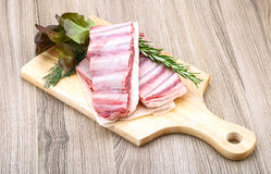 Raw lamb ribs Royalty Free Stock Photos