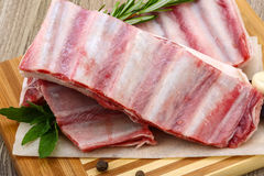 Raw lamb ribs Stock Photo