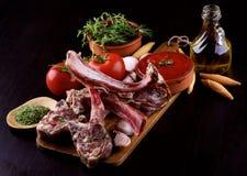 Raw Lamb Ribs stock photo