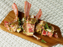 Raw Lamb Ribs Stock Images