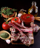 Raw Lamb Ribs Royalty Free Stock Photography