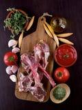 Raw Lamb Ribs Stock Images
