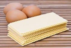 Raw lasagna pasta Royalty Free Stock Image