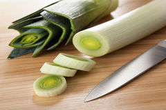 Raw leek Royalty Free Stock Photography