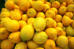 Raw lemon heap Royalty Free Stock Photography