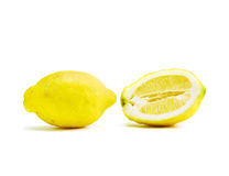 Raw Lemons on white background Stock Images