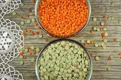 Raw lentils Royalty Free Stock Images