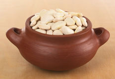 Raw Lima Beans Stock Photography