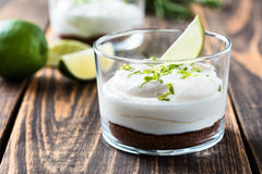 Raw  lime cheesecake Stock Photos