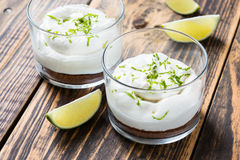 Raw  lime cheesecake Royalty Free Stock Photo