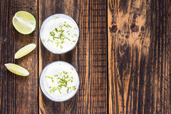 Raw  lime cheesecake Royalty Free Stock Images