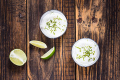 Raw  lime cheesecake Royalty Free Stock Photography