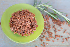 Raw linseeds or flaxseeds Royalty Free Stock Photos