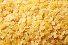Raw, little square pasta Royalty Free Stock Photos