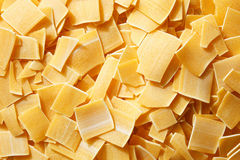 Raw, little square pasta Royalty Free Stock Photography
