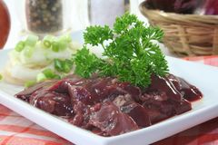 Raw liver Stock Images