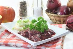 Raw liver Stock Photos