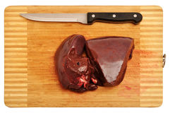 Raw liver Stock Photos
