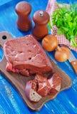 Raw liver Stock Photo