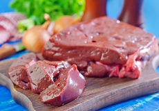 Raw liver Stock Photography