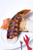 Raw Lobster tails Royalty Free Stock Images