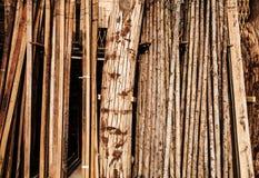 Raw logs wood background Stock Photo