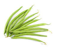 Raw long green beans Royalty Free Stock Photo