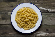 Raw macaroni Stock Image