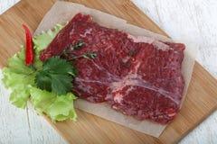 Raw machete steak Stock Images