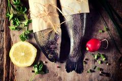 Raw Mackerel Fish Stock Photo