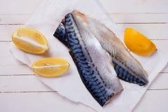 Raw mackerel Stock Photography