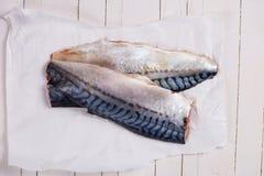 Raw mackerel Royalty Free Stock Photo