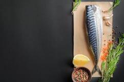 Raw mackerel Stock Image