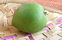 Raw Mango. Fresh raw mango, front view Stock Photos