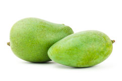 Raw mango fruit. On white background Royalty Free Stock Photos