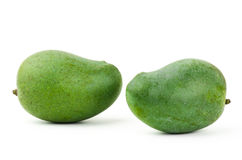 Raw mango fruit. On white background Stock Photography