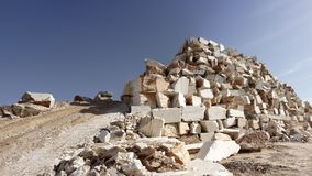 Raw marble in a quarry Stock Photos