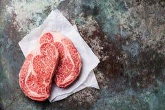 Raw marbled meat Steak Ribeye Stock Image